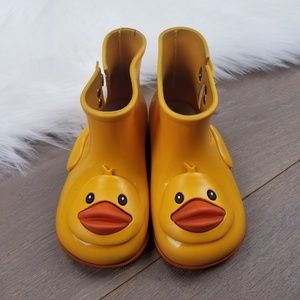 Mini Melissa duck face rain boots